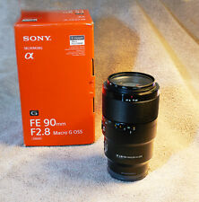 Sony FE 90mm F/2.8 Macro G OSS Lens   Model #SEL90M28G