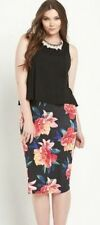 SO FABULOUS MID 2 IN 1 DRESS FLORAL AND BLACK  BNWT SIZE 18 RRP £42