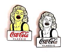 COCA COLA Pin / Pins - MARILYN MONROE / 2 PINS!!!!!!!!! [3677]