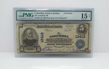 New listing #12412 1902 Large Size $5 Columbia Nat Bank Note Pmg 15 Ch Fine Net Fr#609  00004000