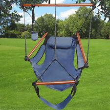 New 250Lbs Swing Chair Hammock Patio Outdoor Furniture Hanging Garden Seat Blue