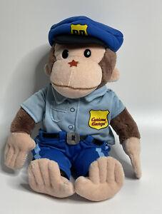 Gund CURIOUS GEORGE Police Officer Plush Universal Studios Stuffed Animal Toy