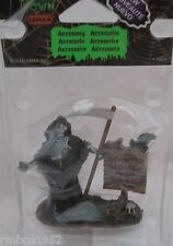 Lemax Spooky Town Accessory Figurine Realty Sign Grim Reaper #34610 NEW @2013