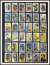 ⭐ Mickey Mouse 36 Spanish CHOCOLATE CARDS complete set - 1930s - DISNEYANA.IT ⭐
