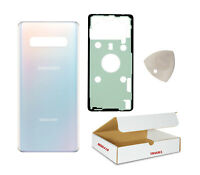 Replacement Fit Samsung Galaxy S10 Plus G975 - Prism White Back Glass Door Cover