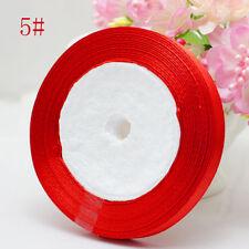 "Free Shipping wedding festival 25 Yards 3/8"" 10mm Craft Bows Satin Ribbon RED"