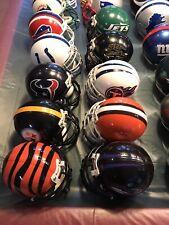 VINTAGE NFL Mini Helmet 32 Teams With Metal Facemasks LOT