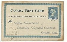 AC81 1879 CANADA DOMINION TELEGRAPH CO. Stationery Card *St.Jean-Port-Joli* CDS