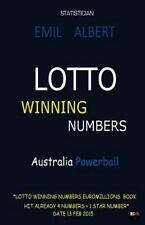 LOTTO WINNING NUMBERS Australia Powerball 6/40 by Emil Albert (2015, Paperback)