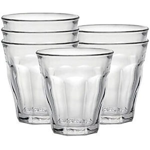 Duralex Picardie Set of 6 Short 7.75 oz. Stacking Drinking Glasses (Open Box)