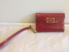 Michael Kors Patent Red Leather Wristlet Wallet Phone Case for iPhone 4/4S