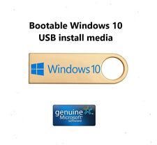 MICROSOFT WINDOWS 10 PRO 32/64 BIT USB KEY BOOTABLEPROFESSIONAL GENUINE