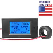 100a Ac Digital Power Panel Meter Monitor Power Energy Voltmeter Ammeter 80 260v