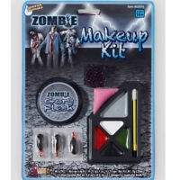 A983 Zombie Gory Make Up Kit Halloween Walk Dead Face Paint Undead Scary Horror