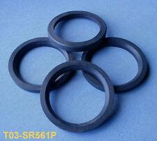 darkgrey 4 Stück Zentrierringe 63.3 mm auf 56.1 mm dunkelgrau