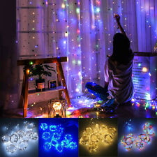 200 LED Curtain Fairy Hanging String Light Christmas Wedding Party Home Decor