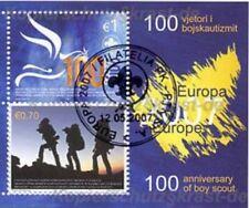 Europa CEPT 2007 BOY SCOUT-Kosovo blocco 6 timbrato con timbro speciale