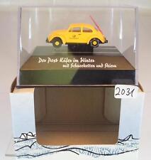 Brekina 1/87 10634 Der Post VW Käfer im Winter Weihnachtsmodell 2007 OVP #2031
