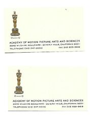Oscars Academy Of Motion Picture Art & Science Business Card One Card Only