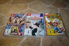 Monopoly + mario Rabbids Kingdom Battle + Carnival Games-Nintendo switch #fp