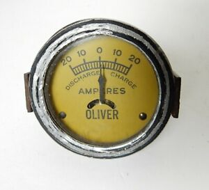 VINTAGE OLIVER AMP AMPERES TRACTOR GAUGE