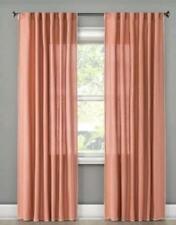 Threshold Peach Stitched Edge Window Panel ~ 54x84