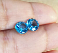 9mm 100/% REAL BLUE MOISSANITE ROUND BRILLIANT CUT TOP FIRE 2.35ct CLEAN!!