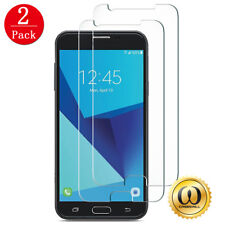 [2-PACK] Samsung Galaxy J7 Prime (T-Mobile) HD Tempered Glass Screen Protector