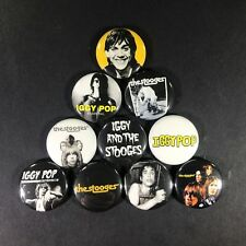 "Iggy Pop and the Stooges 1"" Button Pin Set Punk Rock n Roll Classic Icon Legend"