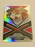 2020 Prizm Baseball Lumber Inc. Silver Prizm - Eugenio Suarez - Cincinnati Reds
