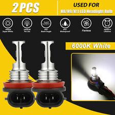 2 Bulbs H11 H8 H9 LED Headlight Kit Combo 2600W 390000LM High Low Beam 6000K