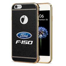 iPhone 7 Case, Ford F-150 TPU Black Soft Leather Pattern