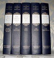 A History Of England- Folio Society - 5 Volumes ,1-5 Only. 1999. Hardback