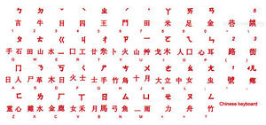 CHINESE KEYBOARD STICKER LABEL TRANSPARENT RED LETTERS ONLINE-WELCOME