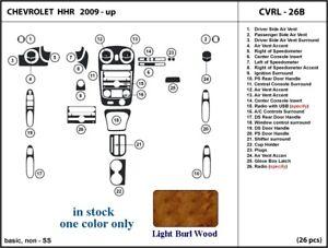 fits Chevrolet HHR 09 10 11 2009 2010 2011 dashboard trim kit light burl wood