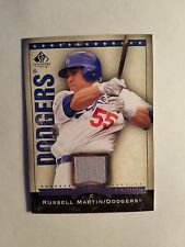 Russell Martin 2008 Upper Deck SP Legendary Cuts Dodgers Game Used Card