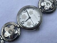 Brighton Women Watch TAHITI Silver Tone Wrist Watch Analog Japan Movement