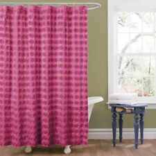 Pink Solid Shower Curtains