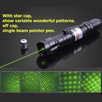 5mw 10 Mile Military Green Laser Pointer Pen Light 532nm Visible Beam Burn Focus