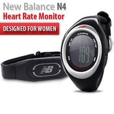 NEW BALANCE N4 Onyx Ladies Running Heart Rate Monitor Watch with Chest Strap NEW