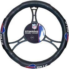 Buffalo Bills Premium Rubber Grip Black Steering Wheel Cover Football