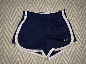 Girl Size 5 Gym Shorts Dark Blue White Stripe Justice Logo FL