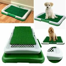 PET Dog Toilet Mat Indoor Training Restroom Grass Potty Pad Loo Tray Large Puppy