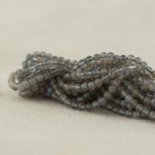 """Grade A Natural Labradorite Semi-Precious Gemstone Round Beads - 2mm - 15.5"""""""