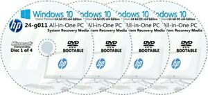 HP All-in-One -  24-g011 Factory Recovery Media 4-Discs Set / Windows 10 64bit
