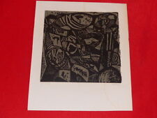 [Coll. RAOUL-JEAN MOULIN ART XXe] HANFRIED SCHULZ (RDA) BOIS GRAVE 1965 woodcut