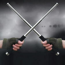 Black 26IN Self-defense Three Sections Telescopic Portable Sticks Outdoor Tool