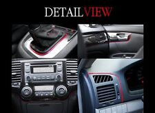 Interior Edge Gap Point Molding Garnish Red Line for Car Interior