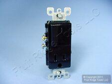 Leviton Black Decora Rocker Light Switch Receptacle Power Outlet 15A 125V 5625-E