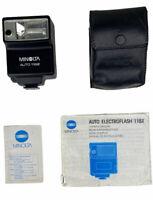 Minolta Auto Electroflash 118x Shoe Mount Camera Flash With Case And Manual VTG